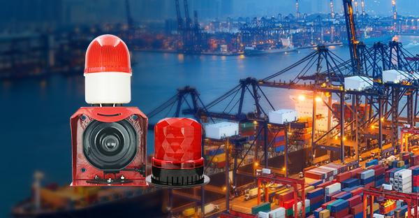 声光报警器在港口上的应用