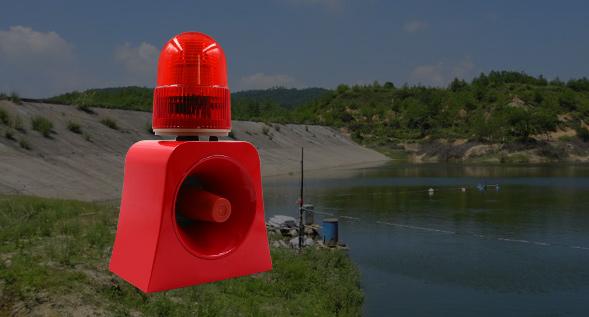 内蒙古水库-声光报警器的应用