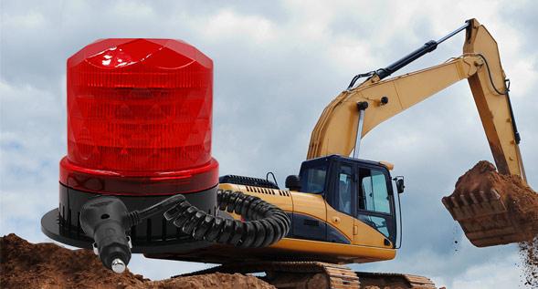 工程车—车载警示灯的应用